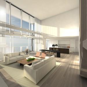 Living Room + Kithchen